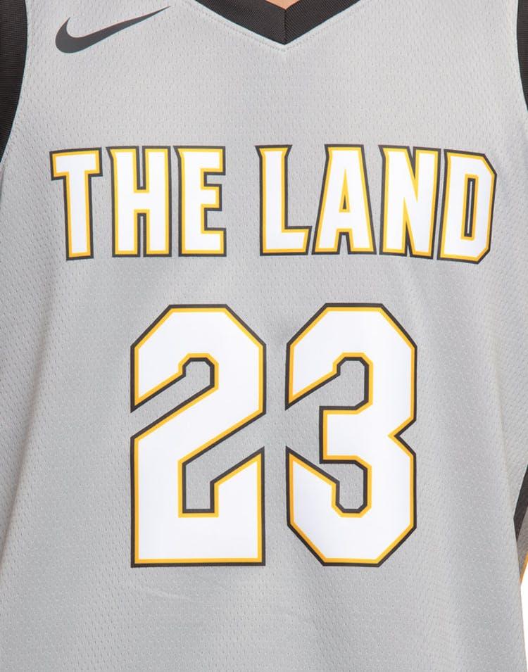 70b2cec08b9 Nike Cleveland Cavaliers #23 LeBron James City Edition Swingman Jersey  Silver