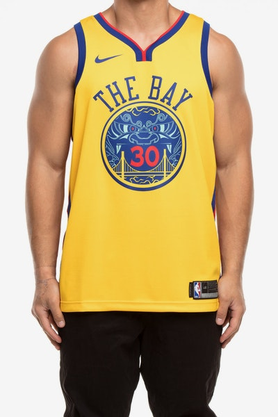 a9e874754ae Nike Golden State Warriors  30 Stephen Curry City Edition Swingman Jer –  Culture Kings