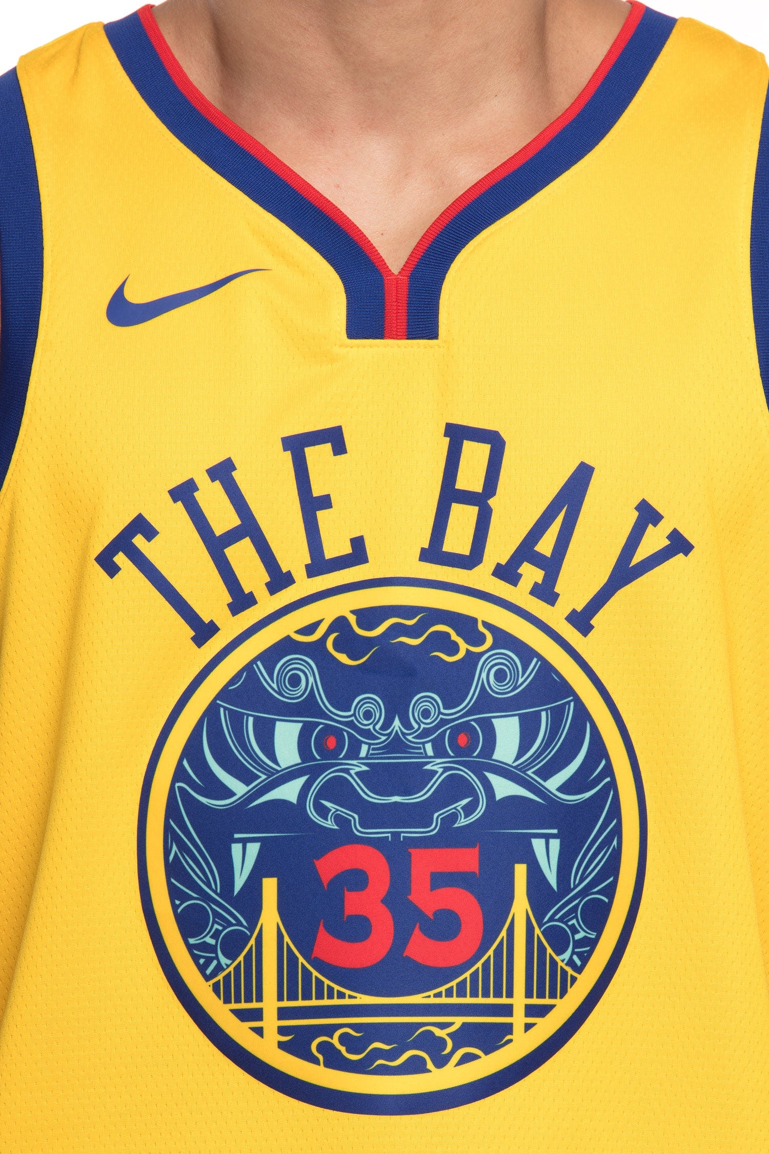 Nike Golden State Warriors #35 Kevin Durant City Edition Swingman Jersey Yellow | Culture Kings