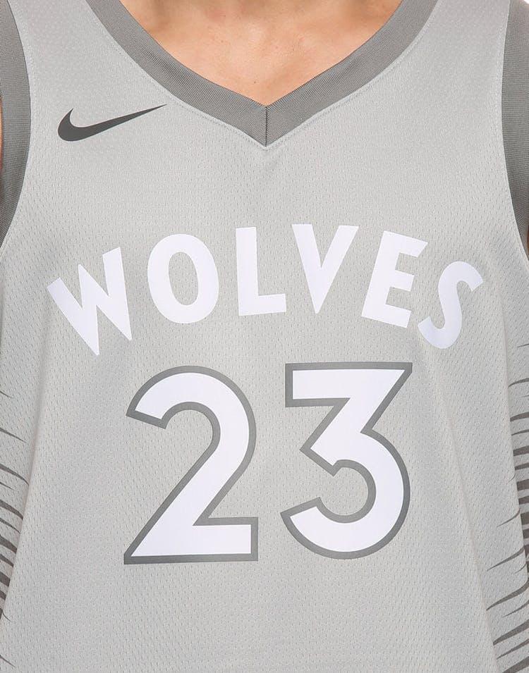 c870d9578d2 Jimmy Buttler #23 Minnesota Timberwolves Nike City Edition Swingman Jersey  Silver