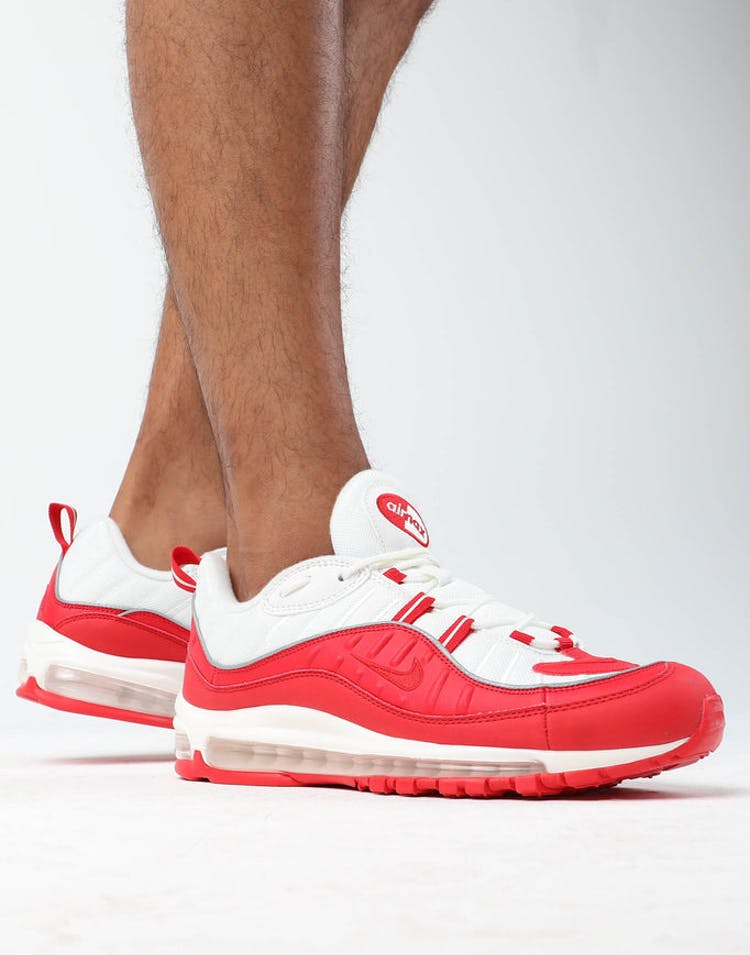 size 40 d36ca 55ca5 Nike Air Max 98 Red/White