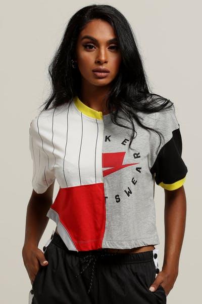 948b309f52e5 Nike Women s Sportswear NSW Crop Tee Grey Red