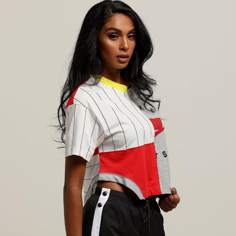 Nike Women's Sportswear NSW Crop Tee Grey/Red