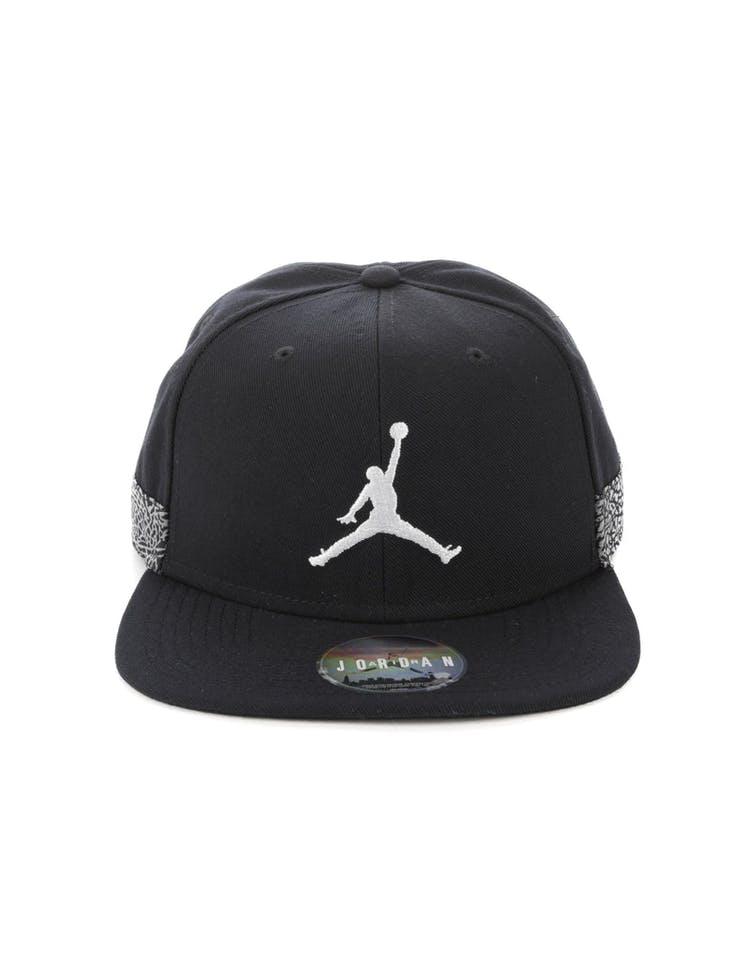 3b930ef4e9e Jordan Jumpman Pro AJ 3 Cap Black White – Culture Kings