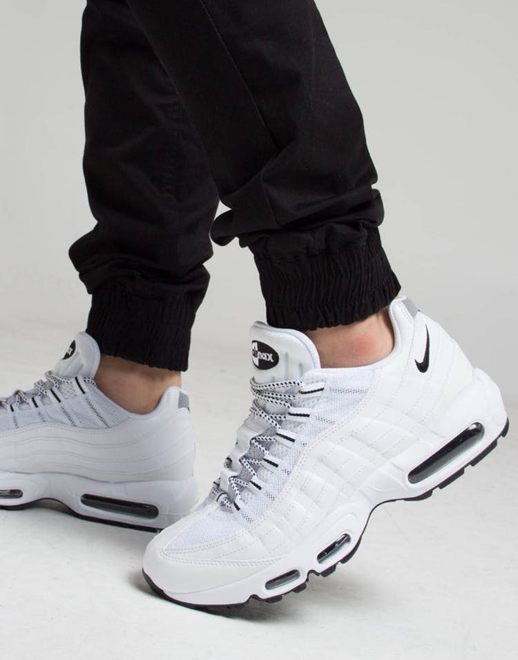 hot sale online d5f68 ee387 Nike Air Max 95 White/Black/Black