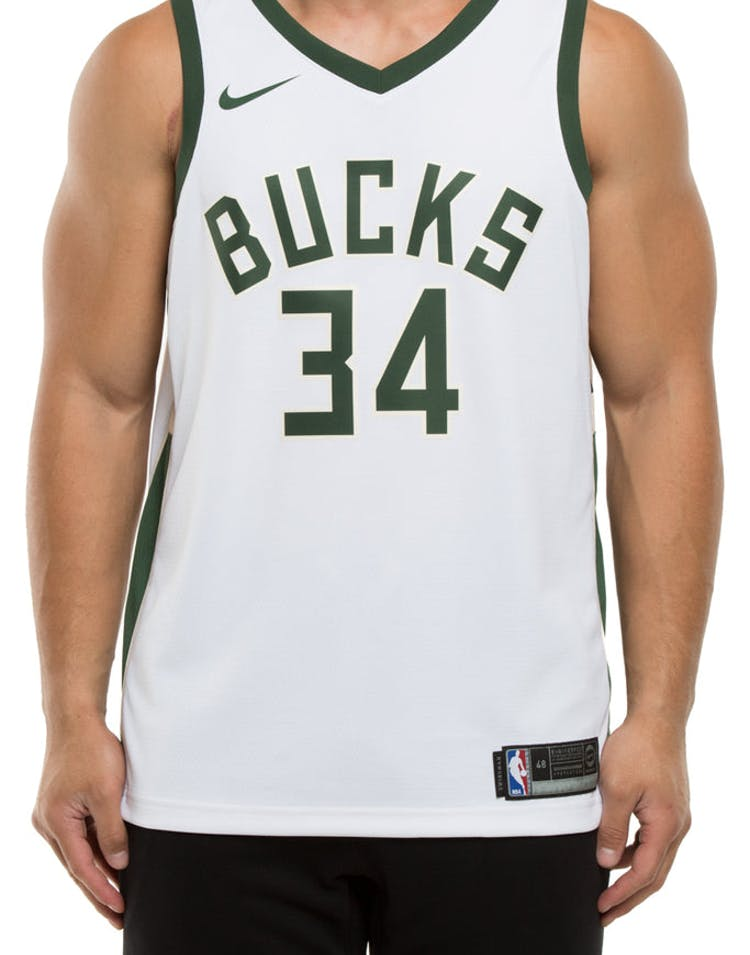 94c6befab Giannis Antetokounmpo  34 Milwaukee Bucks Nike Association Edition Swi –  Culture Kings