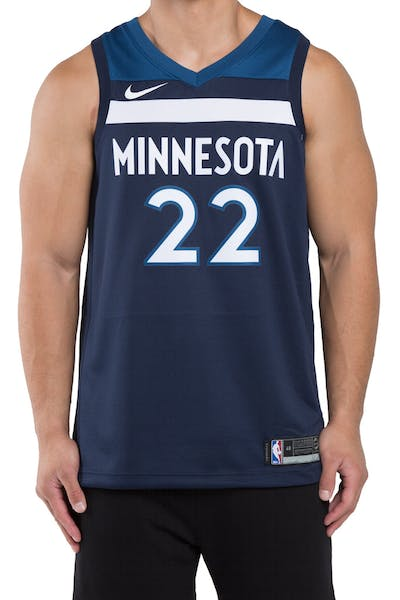 Andrew Wiggins #22 Minnesota Timberwolves Nike Icon Edition Swingman Jersey Colour Navy