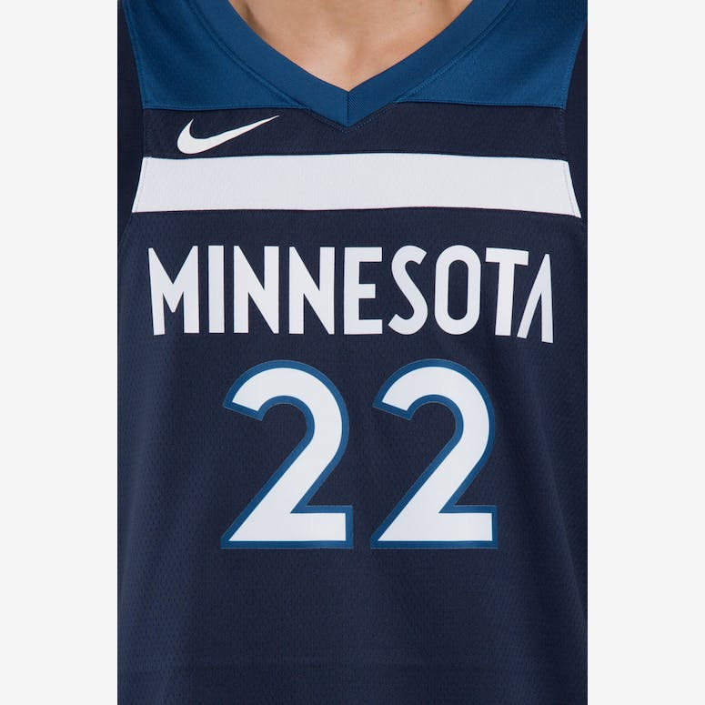 Andrew Wiggins  22 Minnesota Timberwolves Nike Icon Edition Swingman Jersey  Colour Navy ee777efa6