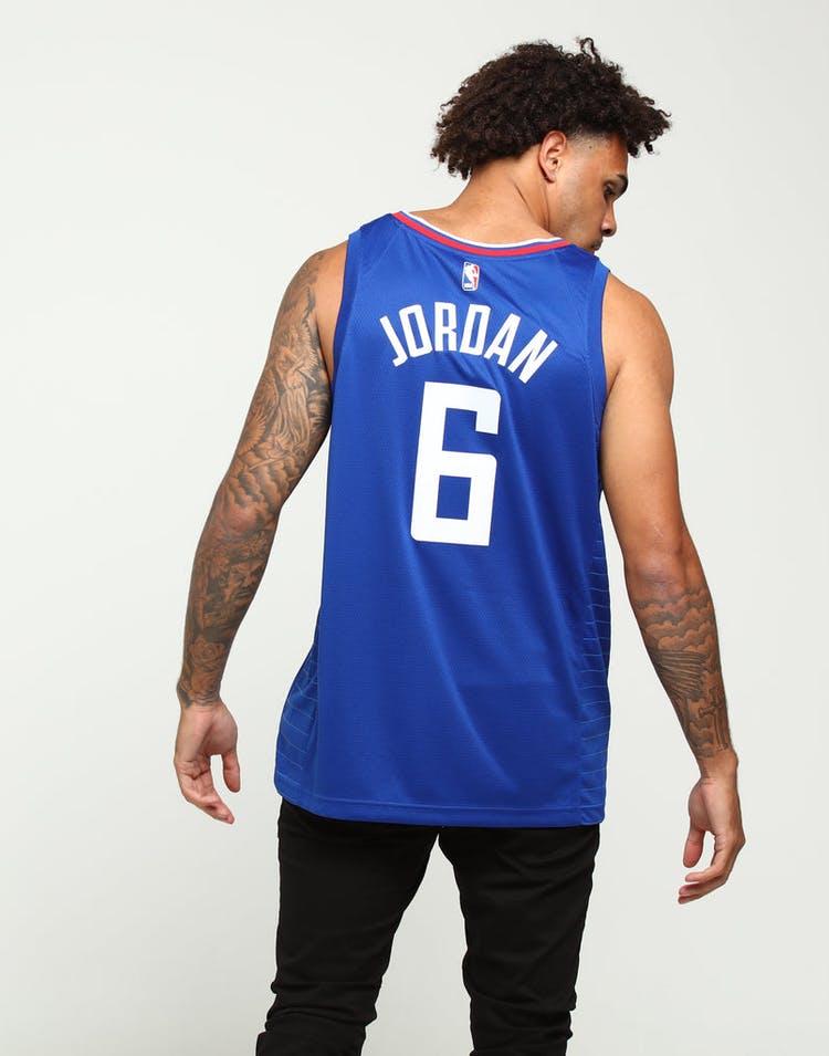 pick up 69bab 9da42 DeAndre Jordan #6 Los Angeles Clippers Nike Icon Edition Swingman Jersey  Blue/White/Red