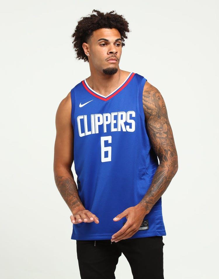 pick up d34bc a6de2 DeAndre Jordan #6 Los Angeles Clippers Nike Icon Edition Swingman Jersey  Blue/White/Red