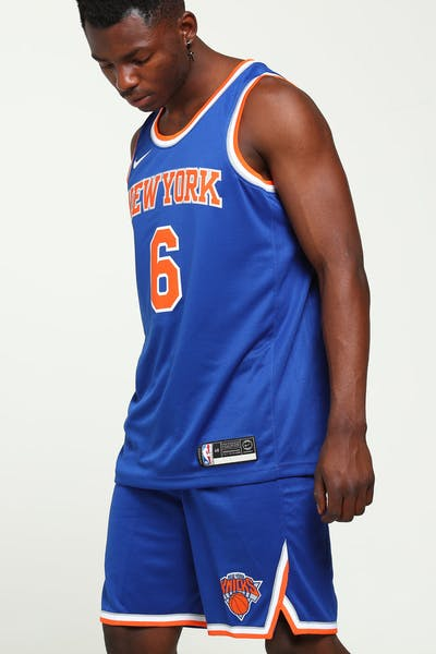 Kristaps Porziņģis #6 New York Knicks Nike Icon Edition Swingman Jersey Blue