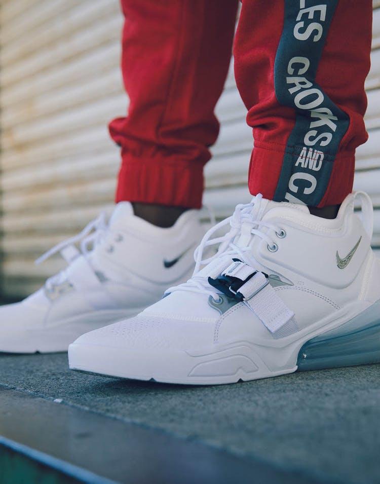 new arrival f7b71 1f6fa Nike Air Force 270 White/Silver