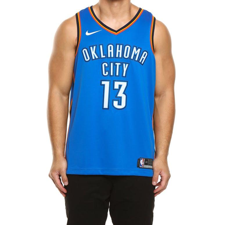 buy popular aaf03 3b6f9 Paul George #13 Oklahoma City Thunder Nike Icon Edition Swingman Jersey  Blue/Navy
