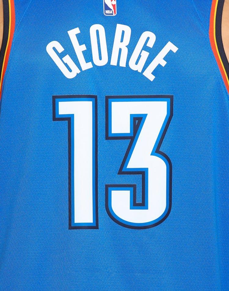 1d8397e28f7 Paul George #13 Oklahoma City Thunder Nike Icon Edition Swingman Jersey Blue /Navy