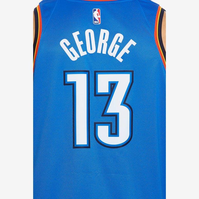 e36f6c7f0 Paul George  13 Oklahoma City Thunder Nike Icon Edition Swingman Jersey  Blue Navy