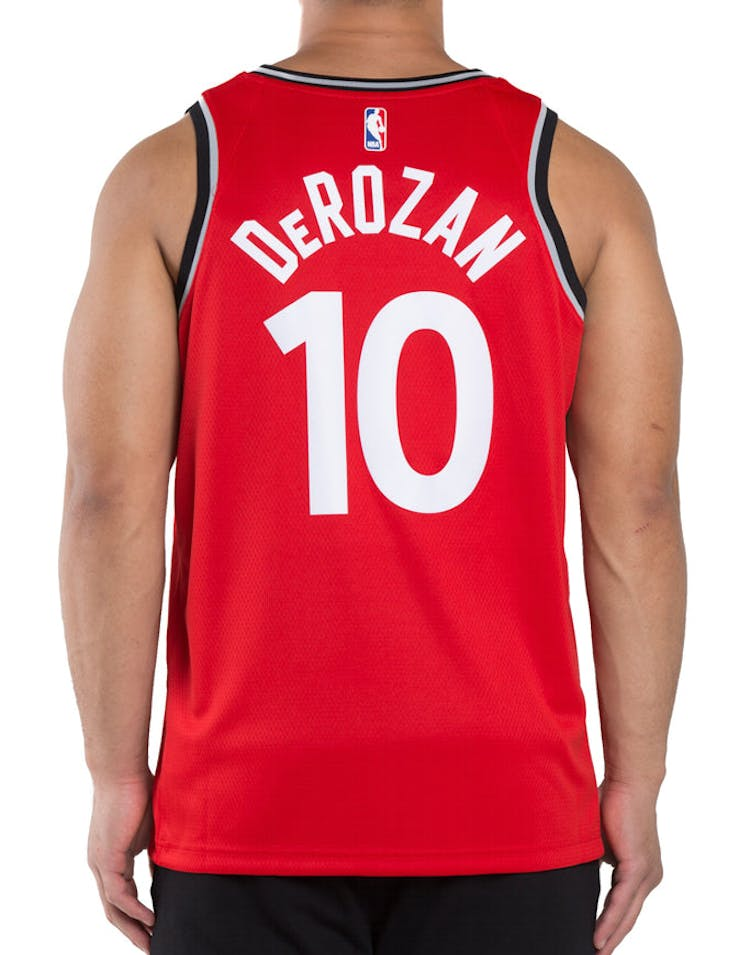 110fd3905f3 DeMar DeRozan  10 Toronto Raptors Nike Icon Edition Swingman Jersey Red  Black