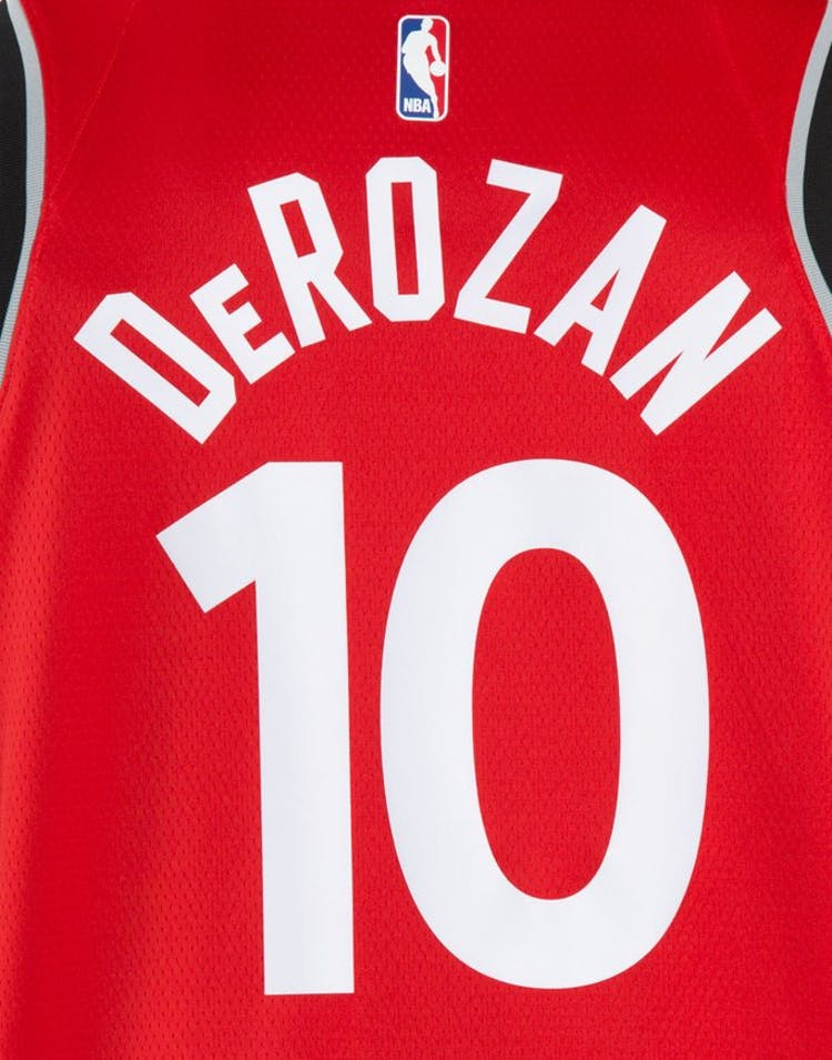 77b8dd5ffb9 DeMar DeRozan  10 Toronto Raptors Nike Icon Edition Swingman Jersey Red  Black