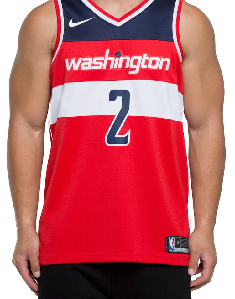 info for db94f 2e44b John Wall #2 Washington Wizards Nike Icon Edition Swingman Jersey  Red/Navy/White