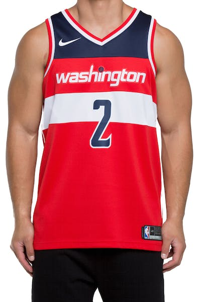 e02f0b42760 John Wall  2 Washington Wizards Nike Icon Edition Swingman Jersey  Red Navy White