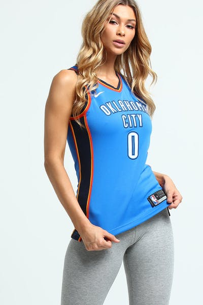 e3faf2df8c98d Nike Women s Oklahoma City Thunder Russell Westbrook  0 Icon Edition NBA  Jersey Blue Navy