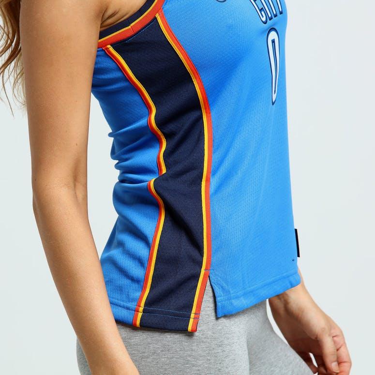 Nike Women s Oklahoma City Thunder Russell Westbrook  0 Icon Edition NBA  Jersey Blue Navy b04465aba