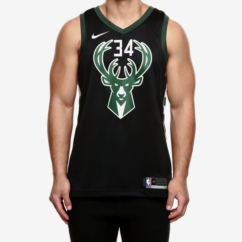 873b537e3 Nike Milwaukee Bucks  34 Giannis Antetokounmpo Alternate Swingman Jers –  Culture Kings