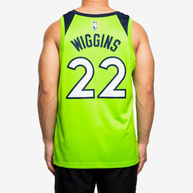 fe93634d1 Nike Minnesota Timberwolves  22 Andrew Wiggins Alternate Swingman Jersey  Green