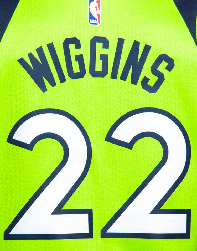5ff73405eab Nike Minnesota Timberwolves  22 Andrew Wiggins Alternate Swingman Jersey  Green
