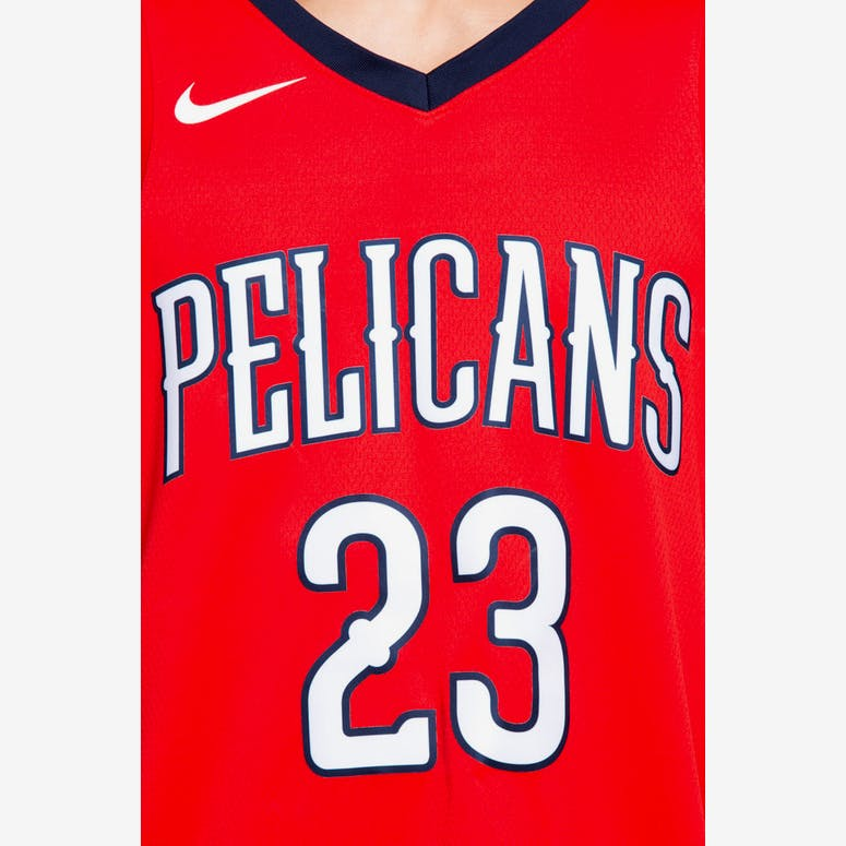 Nike New Orleans Pelicans  23 Anthony Davis Statement Edition Swingman Jersey  Red Navy cead79545