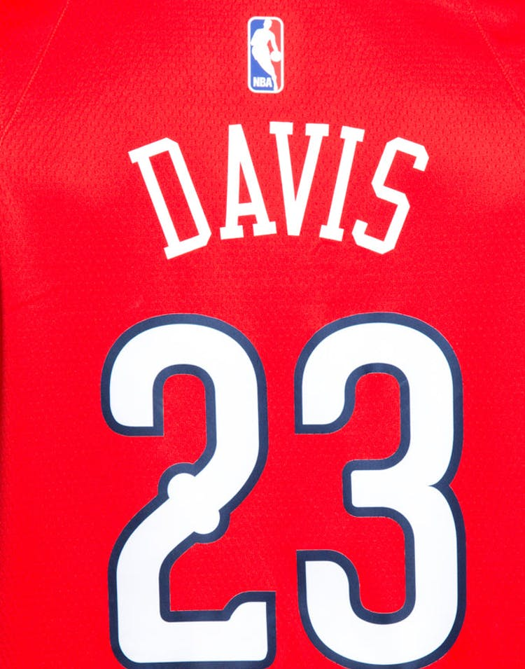promo code 0f25d 55d35 Nike New Orleans Pelicans #23 Anthony Davis Statement Edition Swingman  Jersey Red/Navy