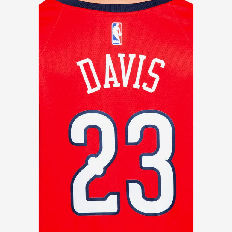 77e89e71f Nike New Orleans Pelicans  23 Anthony Davis Statement Edition Swingman  Jersey Red Navy