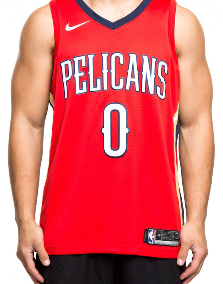 bde934d4ba07 Nike New Orleans Pelicans  0 DeMarcus Cousins Statement Edition Swingman  Jersey Red Navy