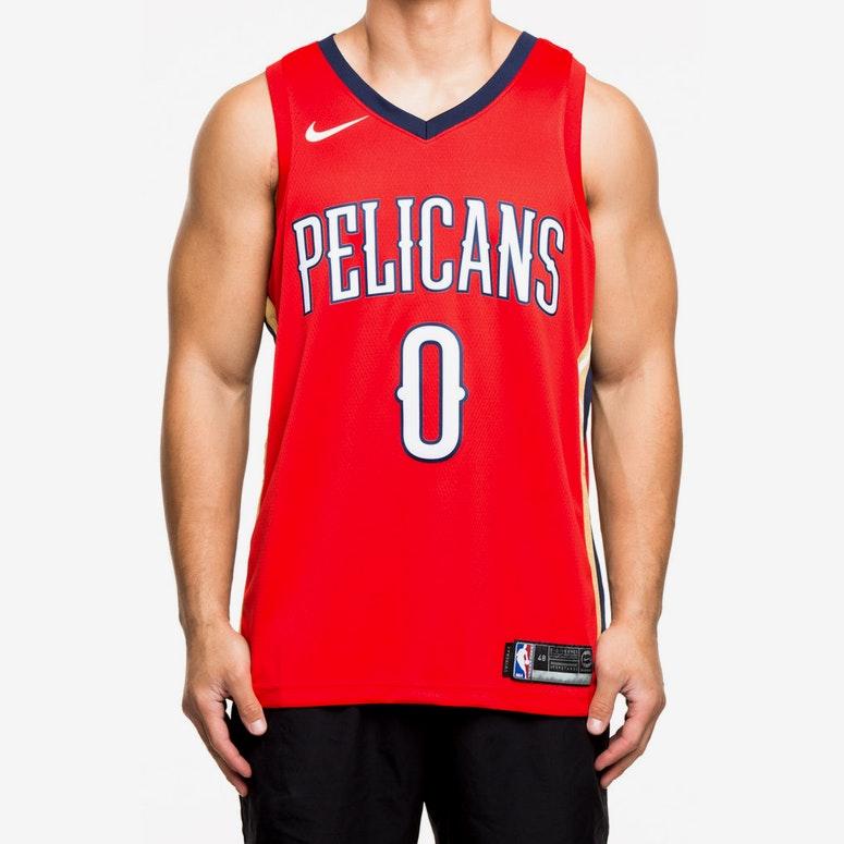 ... designer fashion 30664 2aba9 Nike New Orleans Pelicans 0 DeMarcus  Cousins Statement Edition Swingman Jersey RedNavy ... 1b68f1367