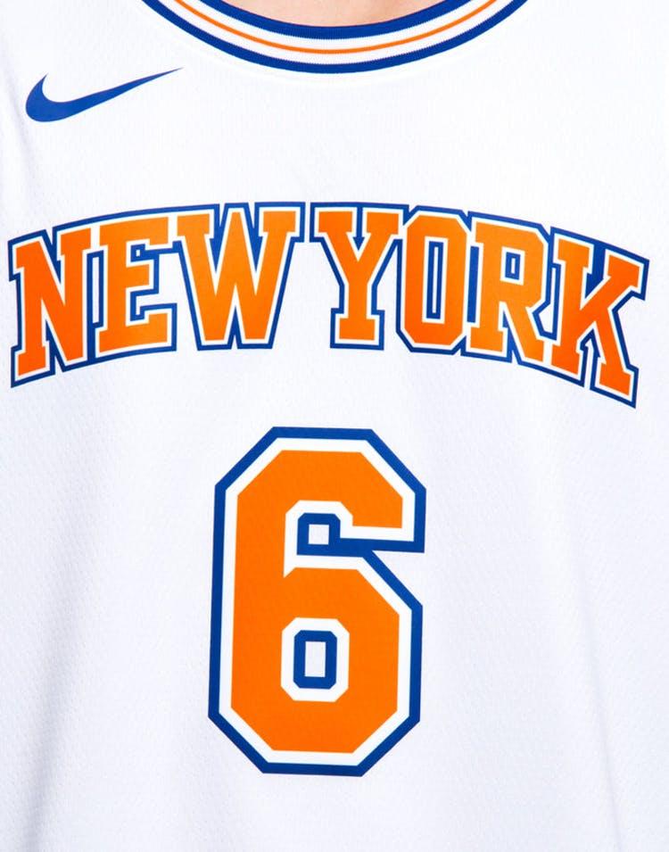 a1dc53d3 Nike New York Knicks #6 Kristaps Porziņģis Alternate Swingman Jersey White