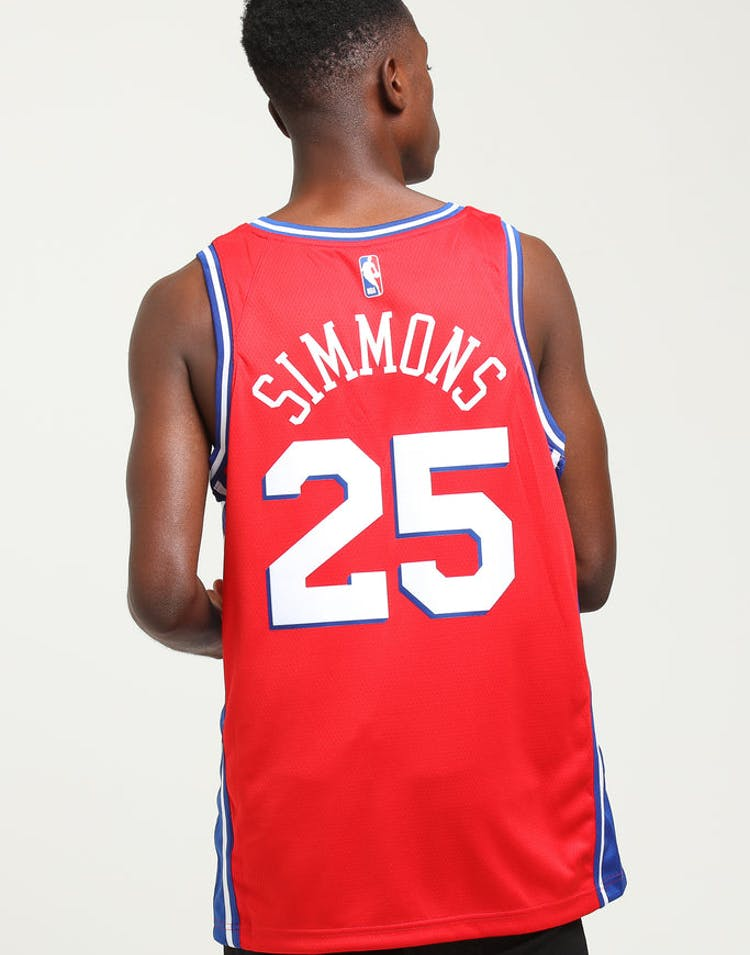 cheap for discount 2d3ff a47b4 Nike Ben Simmons Statement Swingman Red/Blue/White