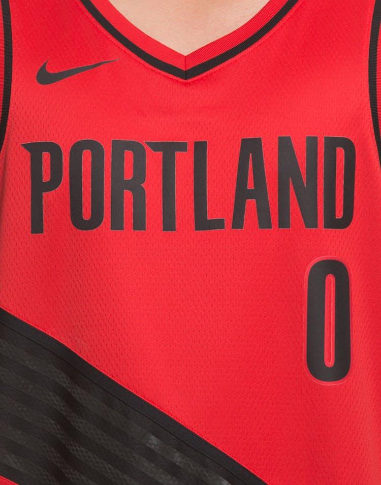 first rate 825c1 6957f Nike Portland Trailblazers #0 Damian Lillard Alternate Swingman Jersey  Red/Black