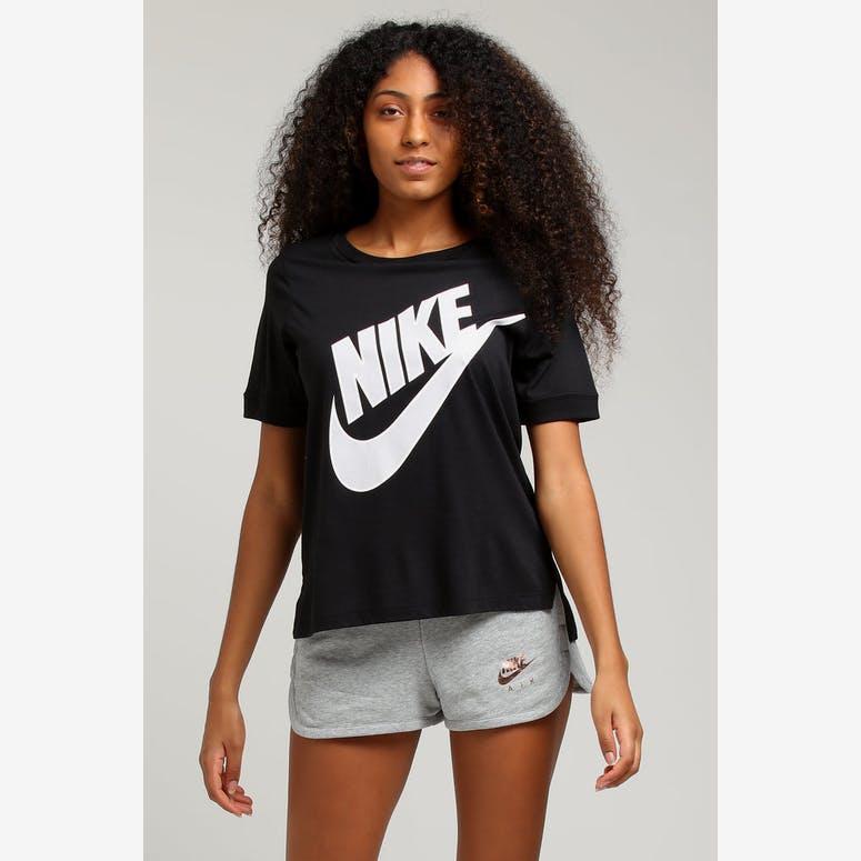 Nike Women s NSW Top SS Prep Futura Black Grey – Culture Kings 3c6ee031a