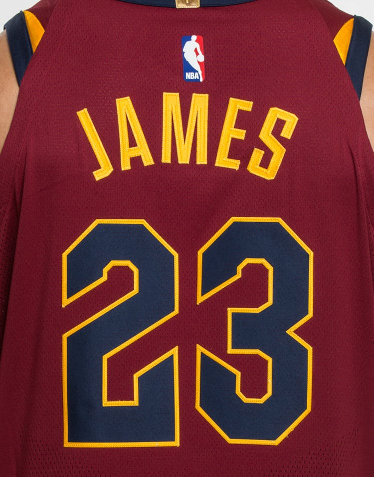 045606605bd Nike LeBron James  23 Cleveland Cavaliers Icon Edition Authentic NBA Jersey  Red