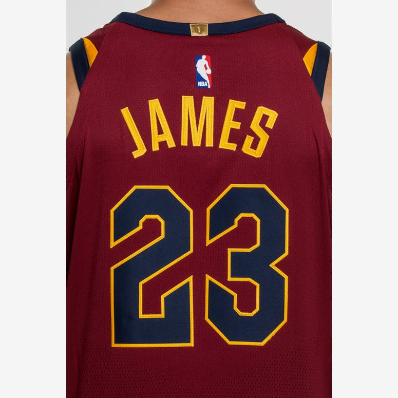 f7e2182c5679 Nike LeBron James  23 Cleveland Cavaliers Icon Edition Authentic NBA Jersey  Red