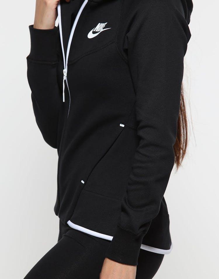 great prices fashion style sold worldwide Nike Women's Sportswear Tech Fleece Windrunner Full-Zip Hoodie Black/White