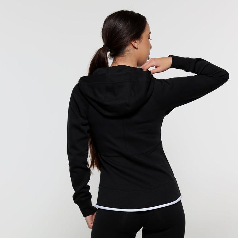 e3d59f930484 Nike Women s Sportswear Tech Fleece Windrunner Full-Zip Hoodie Black White