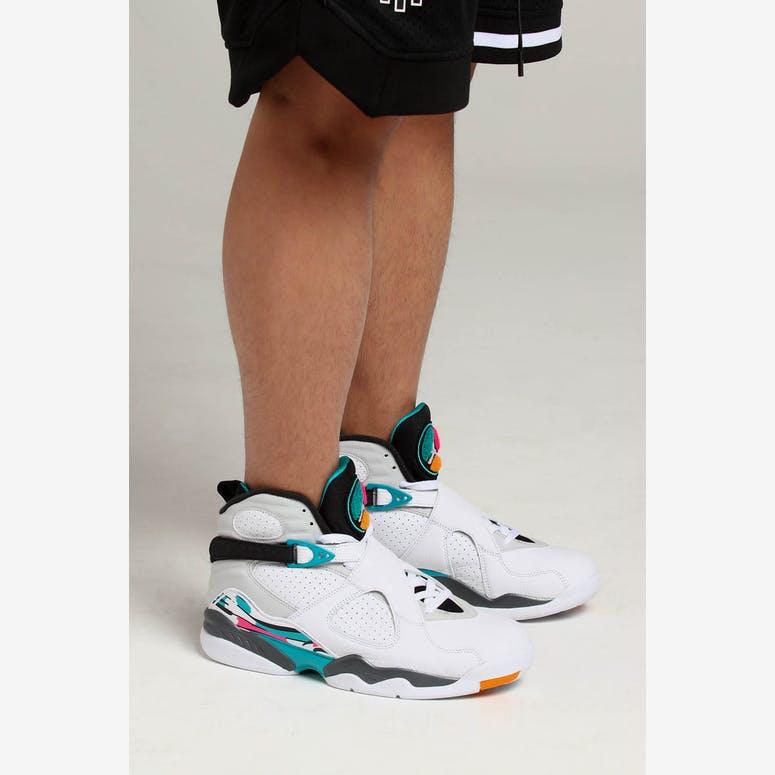 Air Jordan 8 Retro White Turq Grey – Culture Kings 8348d3f33