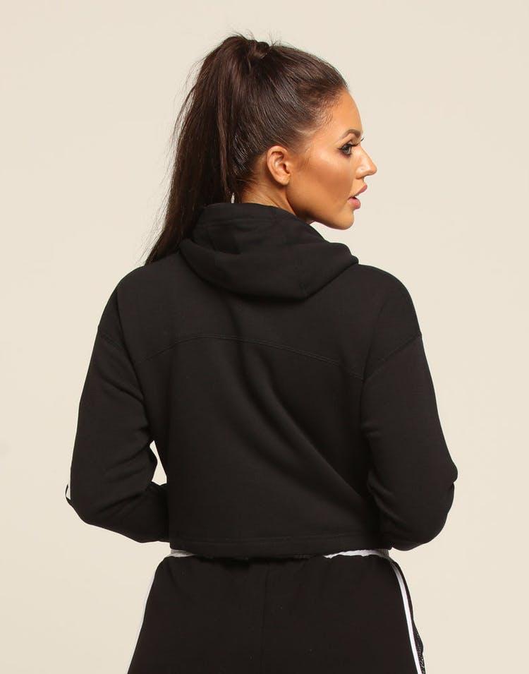 sale retailer 50cff bc0de Nike Women s NSW Full Zip Fleece Hoodie Black White