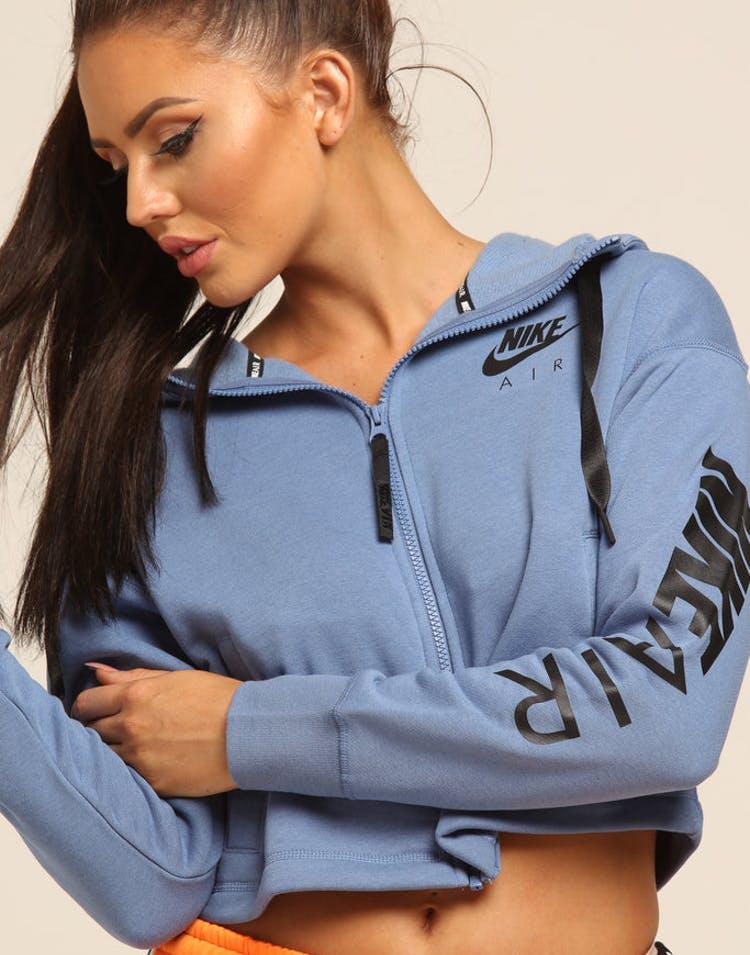 low priced f3e78 f4b77 Nike Women s NSW Full Zip Fleece Hoodie Indigo Black – Culture Kings
