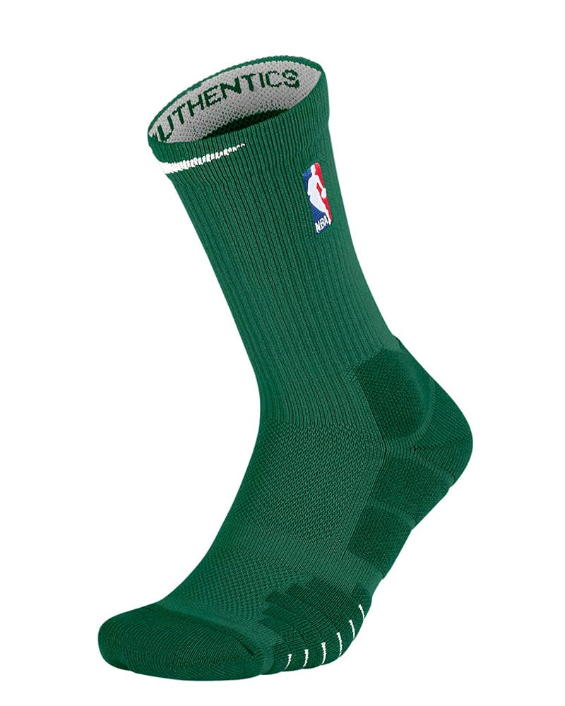 Nike Elite Quick Crew Socks Green/White