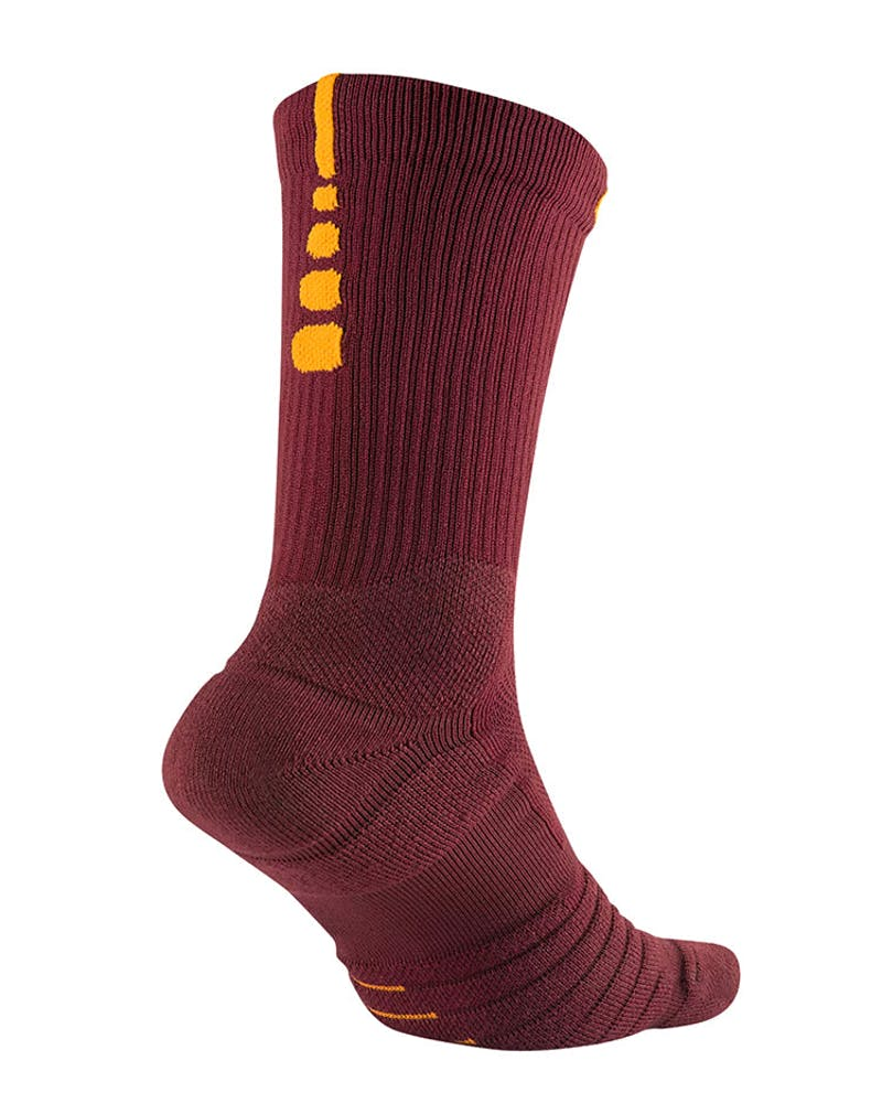 Nike Elite Quick Crew Socks Red/Gold