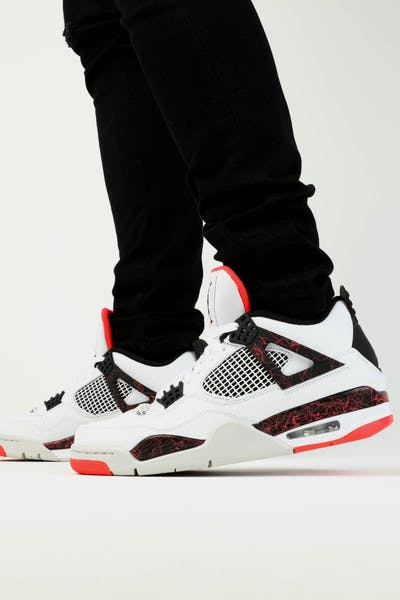865a6e46ef87fe Jordan Air Jordan 4 Retro White Black Crimson