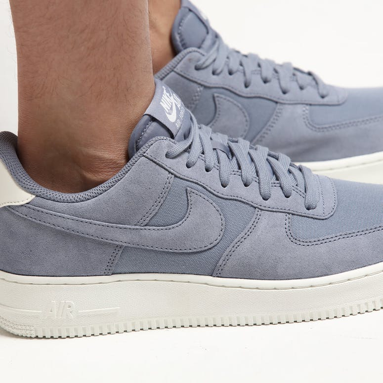 big sale d501e 59b06 Nike Air Force 1  07 Suede Slate Grey Cream