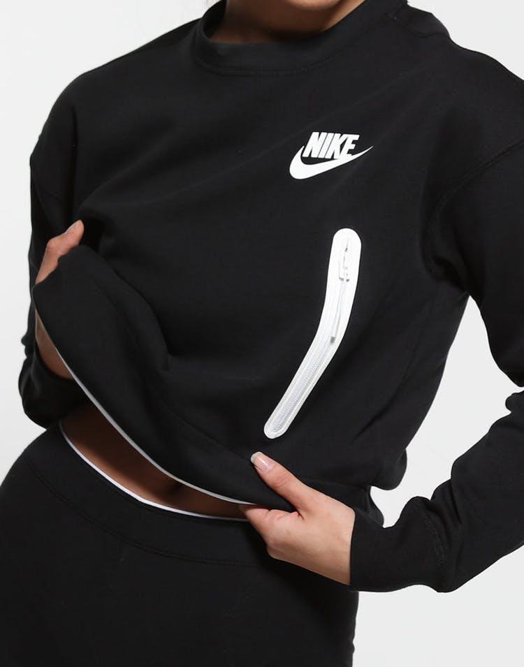 innovative design d5208 a59f7 Nike Women s Sportswear Tech Fleece Crew Black White – Culture Kings