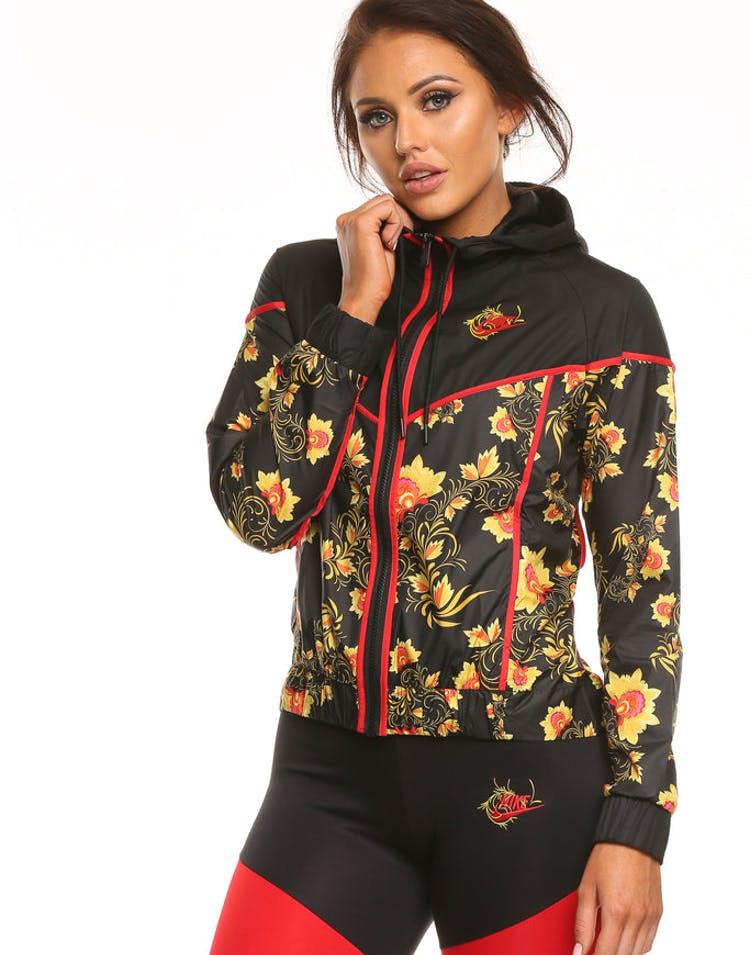 de77d95e4 Nike Women's Sportswear Windrunner Floral Black